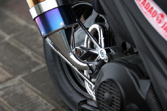"10〜Adress V125  PURE SPORT ""S""  gold emblem  titan blue"
