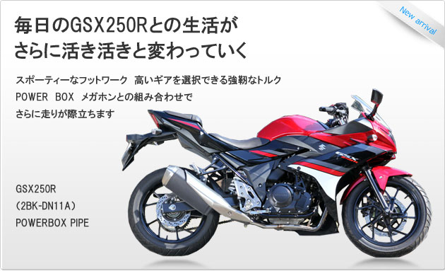 SP忠男ダイレクトストア|GSX250R POWERBOX PIPE|(2BK-DN11A)