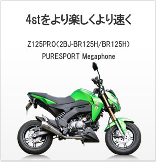 SP忠男ダイレクトストア|Z125PRO(2BJ-BR125H/BR125H)|PURESPORT Megaphone